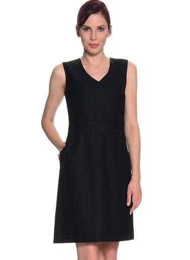 Limon Company Cepli V Yaka Kolsuz Kadın Elbise Siyah